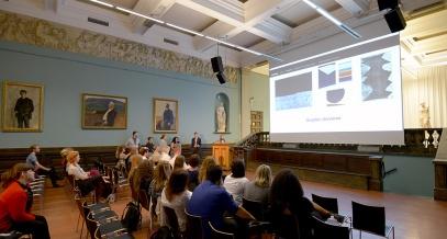 The Contemporary Museum team presenting the work of Anna Eva Bergman. photo: Shane Colvin